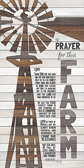 Marla Rae MA2461GP - A Prayer for This Farm - Farm, Windmill, Rusty, Wood Planks, Prayer, Farmer from Penny Lane Publishing