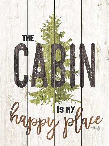 Marla Rae MA2468GP - The Cabin is My Happy Place - Cabin, Camping, Sign, Lake, Lodge from Penny Lane Publishing