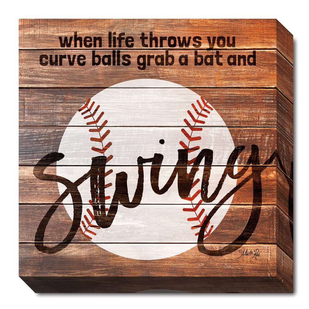 Marla Rae MA2472 - Grab a Bat and Swing - Sports, Masculine, Baseball, Signs, Inspirational, Children, Sports from Penny Lane Publishing