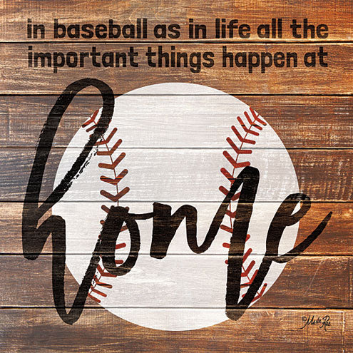 Marla Rae MA2476GP - Baseball Home - Baseball, Home, Wood Planks, Signs from Penny Lane Publishing