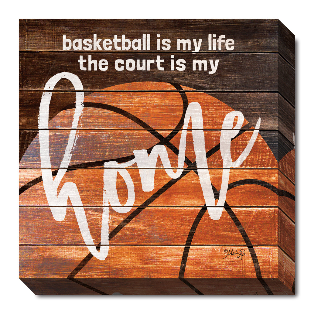 Marla Rae MA2478 - Basketball Home - Sports, Masculine, Basketball, Signs, Inspirational, Children, Sports from Penny Lane Publishing