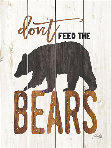 Marla Rae MA2480GP - Don't Feed the Bears - Lodge, Bear, Camping, Signs, Animals, Humor, Lake, Lodge from Penny Lane Publishing