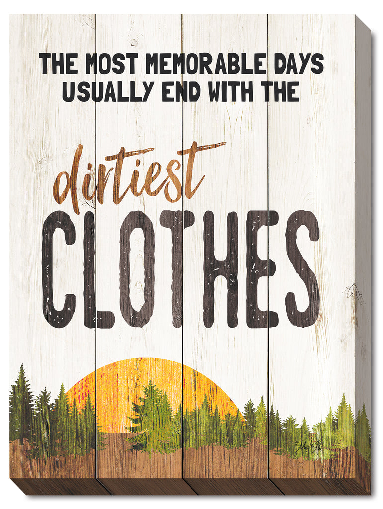 Marla Rae MA2483 - The Dirtiest Clothes - Lodge, Camping, Laundry, Signs, Humor, Lake, Lodge from Penny Lane Publishing
