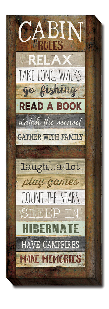 Marla Rae MA2488 - Cabin Rules - Cabin, Rules, Camping, Sign, Inspirational, Lake, Lodge from Penny Lane Publishing