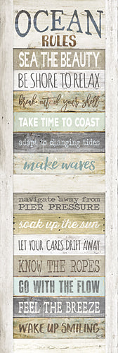 Marla Rae MA2489GP - Ocean Rules - Rules, Beach, Signs, Inspirational, Coastal from Penny Lane Publishing
