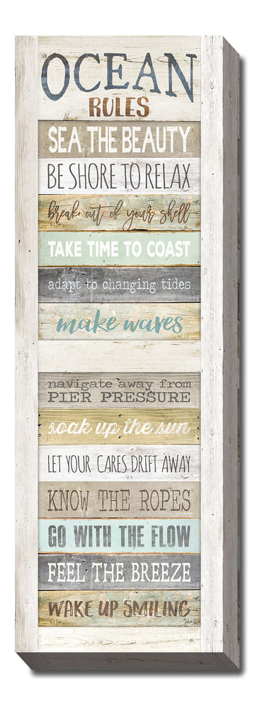 Marla Rae MA2489 - Ocean Rules - Rules, Beach, Signs, Inspirational, Coastal from Penny Lane Publishing