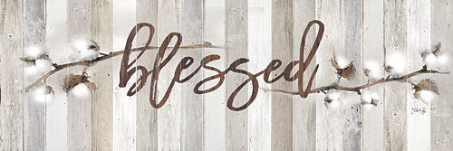 Marla Rae MA2520GP - Cotton Stems - Blessed - Blessed, Cotton, Wood Planks from Penny Lane Publishing