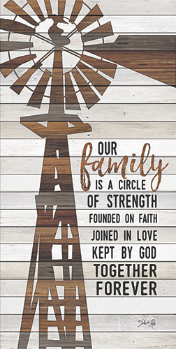 Marla Rae MA2521A - Family Circle Windmill - Inspirational, Wood Planks, Farm, Windmill from Penny Lane Publishing