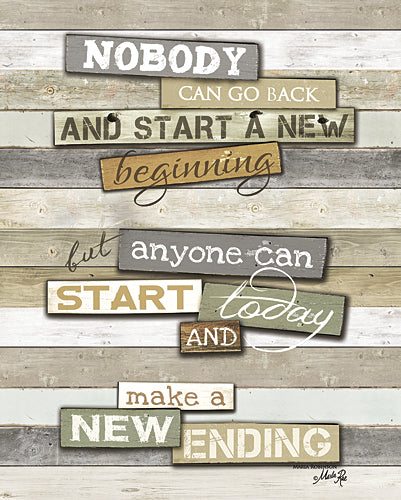 Marla Rae MA2571 - New Ending - Inspirational, Wood Planks, Inspirational, Rules from Penny Lane Publishing