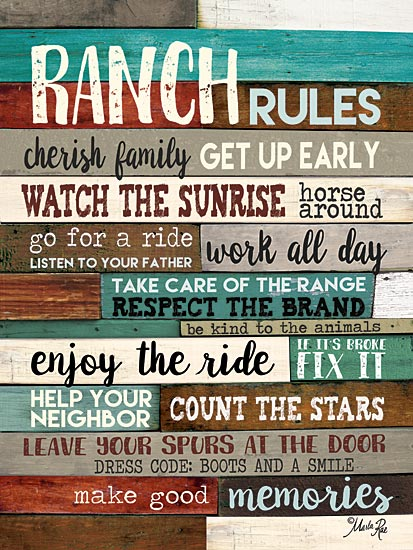 Marla Rae MA2594GP - Ranch Rules - Typography, Ranch, Rules, Signs from Penny Lane Publishing