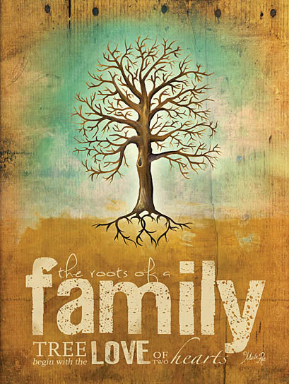 Marla Rae MA283A - Roots of a Family - Roots, Tree, Wood Planks, Family from Penny Lane Publishing