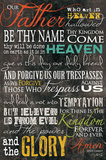 Marla Rae MA302 - The Lord's Prayer - Lord's Prayer, Our Father, Chalkboard, Religious from Penny Lane Publishing