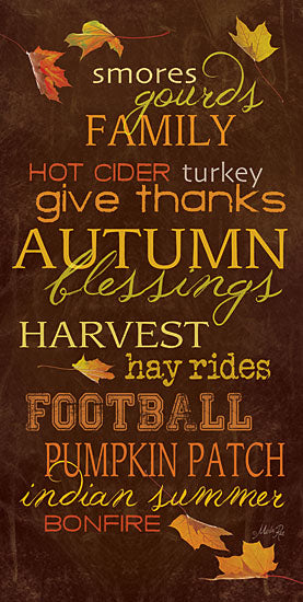 Marla Rae MA666 - Autumn Blessings - Autumn, Blessings, Activities, Typography from Penny Lane Publishing