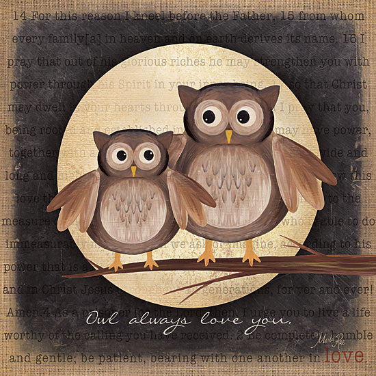 Marla Rae MA714 - Owl Always Love You - Owls, Love, Moon from Penny Lane Publishing