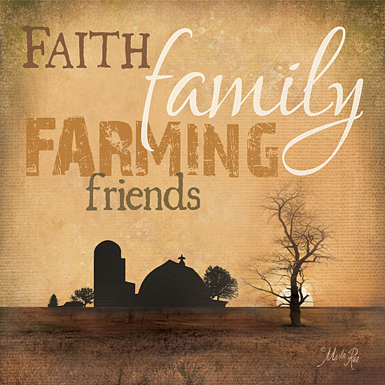 Marla Rae MA719 - Farming - Faith, Family, Farm, Barn from Penny Lane Publishing