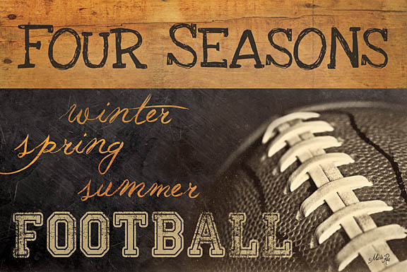 Marla Rae MA771 - Four Seasons Football II - Football, Signs from Penny Lane Publishing