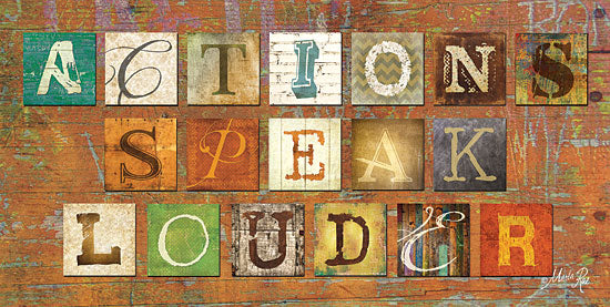 Marla Rae MA804 - Actions Speak Louder - Actions Speak Louder, Block Letters, Rustic from Penny Lane Publishing