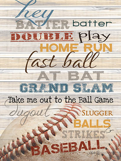 Marla Rae MA848A- Hey Batter Batter - Baseball, Baseball Words, Typography, Signs from Penny Lane Publishing