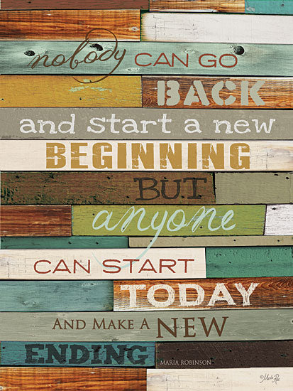 Marla Rae MA853 - Make a New Ending  - Ending, New, Typography, Signs, Inspirational from Penny Lane Publishing