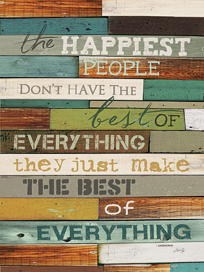 Marla Rae MA863 - Happiest People  - Happy, People, Typography, Signs from Penny Lane Publishing
