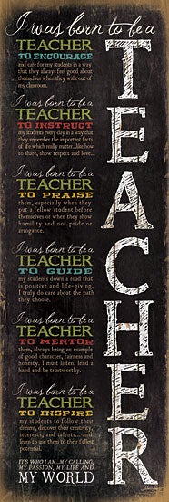 Marla Rae MA875 - Born to be a Teacher - Teacher, Children, Inspirational from Penny Lane Publishing