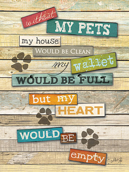 Marla Rae MA967A- My Pets - Pets, Paw Prints, Heart from Penny Lane Publishing
