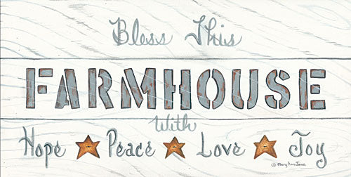 Mary Ann June MARY499 - Bless This Farmhouse - Farmhouse, Barn Stars, Wood Planks, Neutral from Penny Lane Publishing