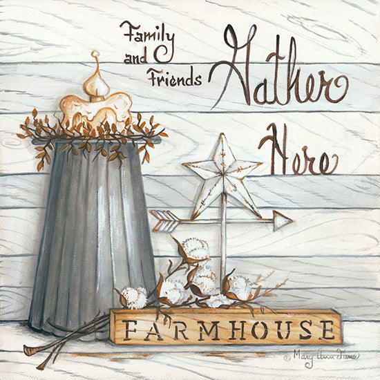 Mary Ann June MARY503 - Farm House - Gather Here - Farmhouse, Gather Here, Neutral, Cotton, Candle from Penny Lane Publishing