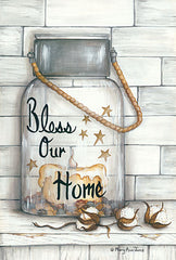 MARY520 - Glass Luminary Bless Our Home - 12x18
