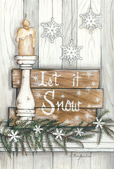 MARY522 - Let It Snow Snowflakes - 12x18