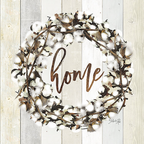 Marla Rae MAZ5004GP - Home Cotton Wreath - Wood Planks, Cotton, Home from Penny Lane Publishing