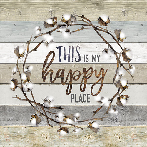 Marla Rae MAZ5023GP - This is My Happy Place Cotton Wreath - Wreath, Cotton, Happy from Penny Lane Publishing