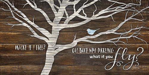 Marla Rae MAZ5036 - What if You Fly - Tree, Blue Bird, Inspirational from Penny Lane Publishing