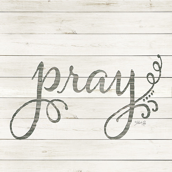 Marla Rae MAZ5046GP - Simple Words - Pray - Pray, Typography, Wood Planks from Penny Lane Publishing