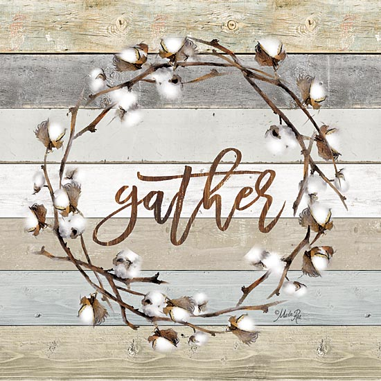 Marla Rae MAZ5060 - Gather Cotton Wreath   - Cotton, Wreath, Gather from Penny Lane Publishing