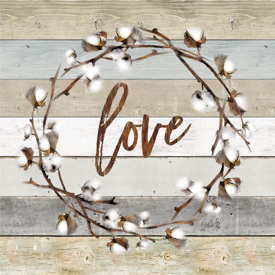 Marla Rae MAZ5061 - Love Cotton Wreath    - Cotton, Wreath, Love from Penny Lane Publishing