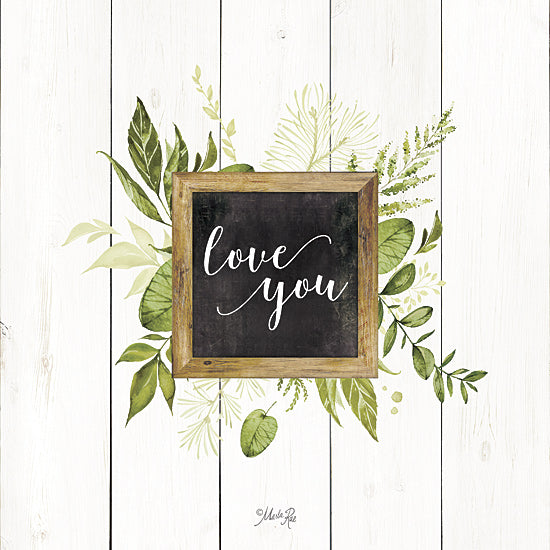 Marla Rae MAZ5062GP - Love You Greenery - Greenery, Inspirational, Leaves from Penny Lane Publishing