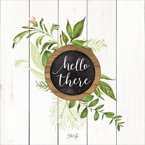 Marla Rae MAZ5063GP - Hello There Greenery - Typography, Leaves, Inspirational from Penny Lane Publishing