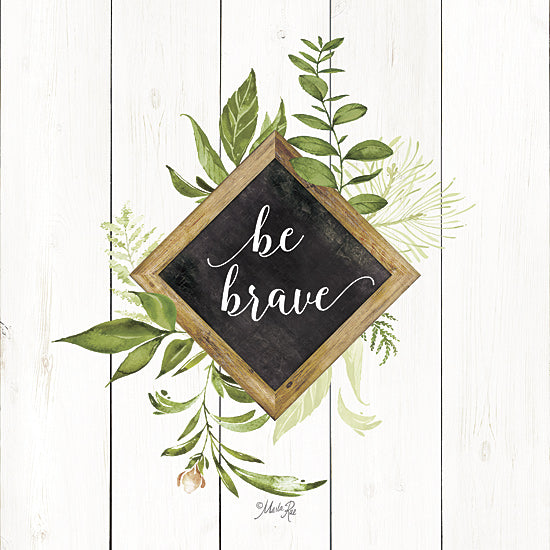Marla Rae MAZ5064GP - Be Brave Greenery - Greenery, Inspirational, Leaves from Penny Lane Publishing