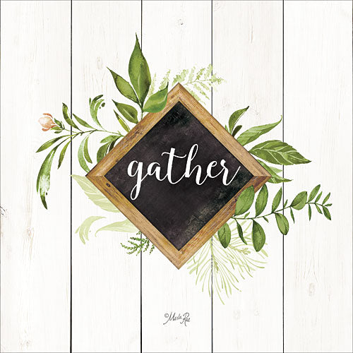 Marla Rae MAZ5065GP - Gather Greenery - Typography, Leaves, Inspirational from Penny Lane Publishing