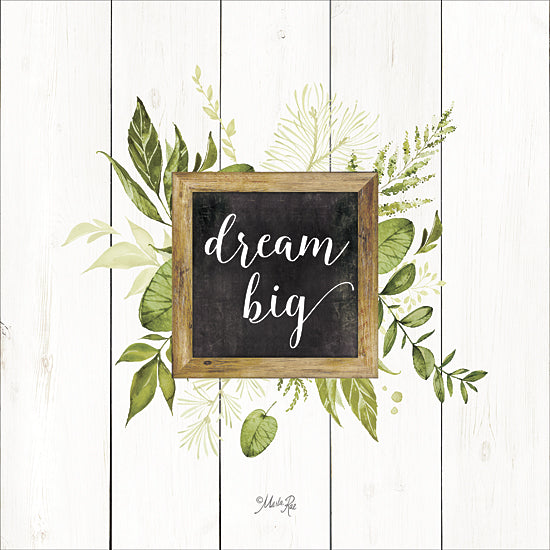 Marla Rae MAZ5070 - Dream Big Greenery - Greenery, Inspirational, Leaves from Penny Lane Publishing