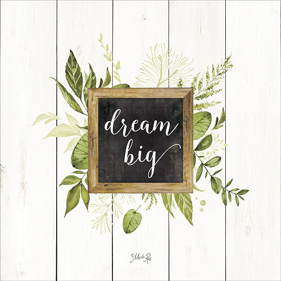 Marla Rae MAZ5070GP - Dream Big Greenery - Greenery, Inspirational, Leaves from Penny Lane Publishing