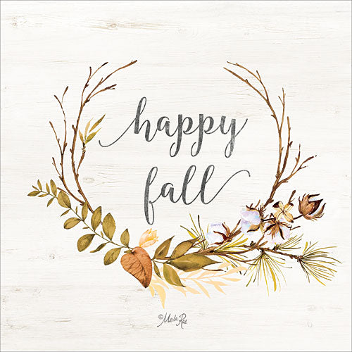 Marla Rae MAZ5086GP - Happy Fall - Fall, Harvest, Wreath from Penny Lane Publishing