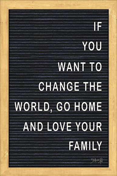 Marla Rae MAZ5089 - Love Your Family Felt Board - Change the World, Love Your Family, Felt Board from Penny Lane Publishing