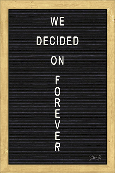 Marla Rae MAZ5092GP - We Decided on Forever Felt Board - Inspirational, Felt Board, Typography from Penny Lane Publishing