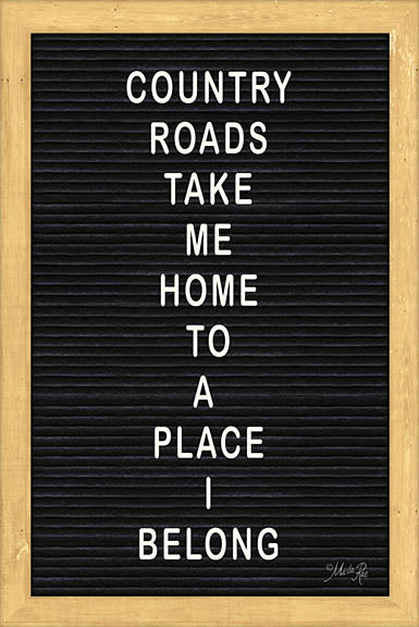 Marla Rae MAZ5093 - Country Road Felt Board - Inspirational, Felt Board, Typography from Penny Lane Publishing