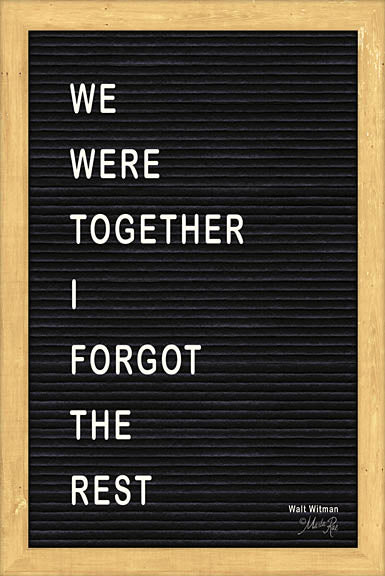 Marla Rae MAZ5095GP - We Were Together Felt Board - Inspirational, Felt Board, Typography from Penny Lane Publishing