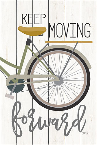Marla Rae MAZ5105GP - Keep Moving Forward - Bicycle, Inspirational, Signs from Penny Lane Publishing