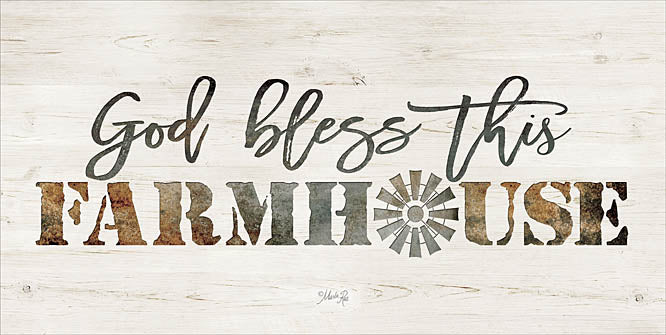 Marla Rae MAZ5108GP - God Bless This Farmhouse  - Farm, God, Bless, Inspirational, Signs, Rust from Penny Lane Publishing