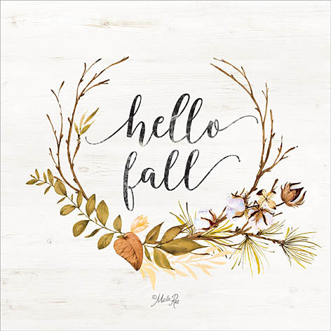 Marla Rae MAZ5119GP - Hello Fall - Wreath, Signs, Autumn, Leaves from Penny Lane Publishing
